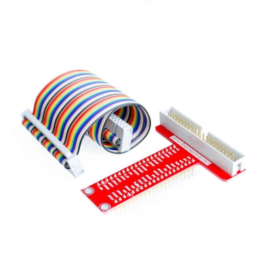 Raspberry Pi B+ T-type GPIO expansion board and 40P cable