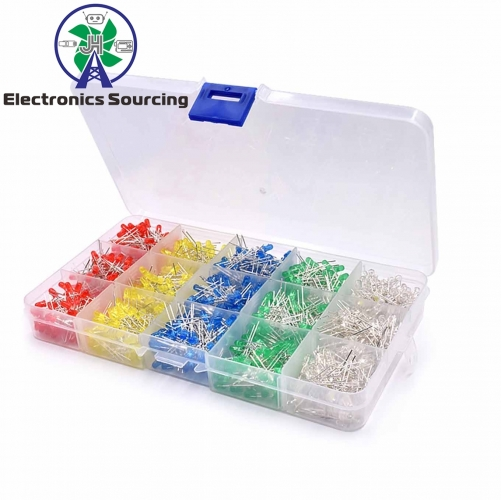 3MM LED matching plastic boxes(red/yellow/blue/green/ white, every color each 200pcs)