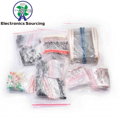 Electronic Components Package + Variable Electrolytic Capacitors+ Ceramic Capacitors +Resistance +LED Diodes Transistor