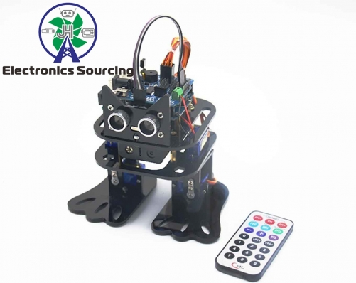 Arduino DIY 4-DOF Robot Kit Sloth Learning Kit Programmable Robot Kit Dancing Robot Ultrasonic Sensor Electronic Toy with Detailed Manual