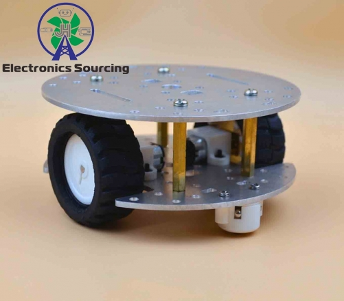 2WD 2 layer Metal aluminium alloy Smart Robot Car Chassis kit
