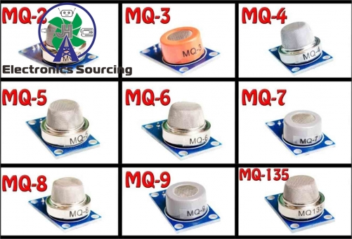Gas detection module 9pcs/kit(MQ-2 MQ-3 MQ-4 MQ-5 MQ-6 MQ-7 MQ-8 MQ-9 MQ-135 each 1pcs)