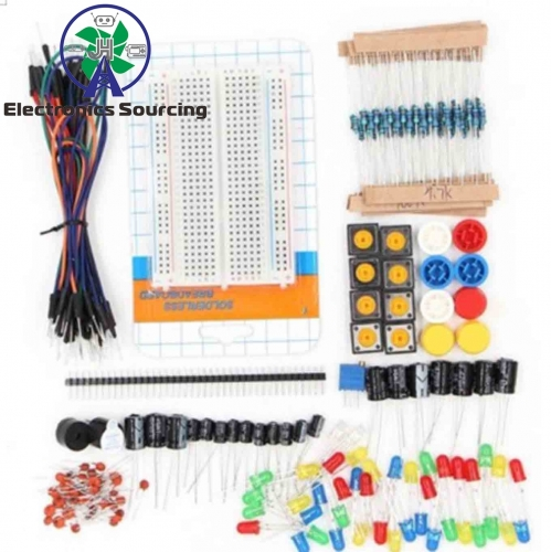 Starter Kit Resistor /LED / Capacitor / Jumper Wires / Breadboard Resistor Kit with Retail Box for arduino DIY KIT