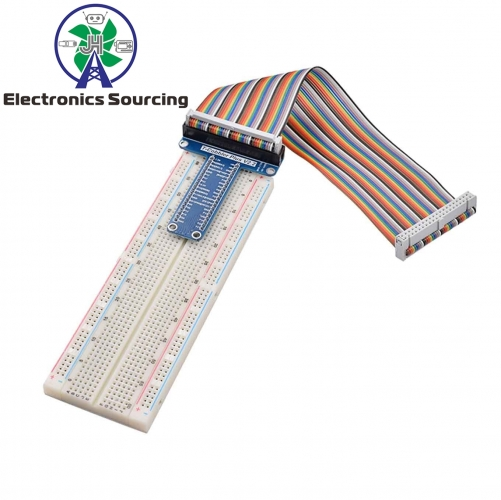 T Type GPIO Extension Board DIY Breadboard /Jumper Wire/Resistors/ Rainbow 40 Pin Flat Ribbon Cable for Raspberry Pi 2 3 Model B+