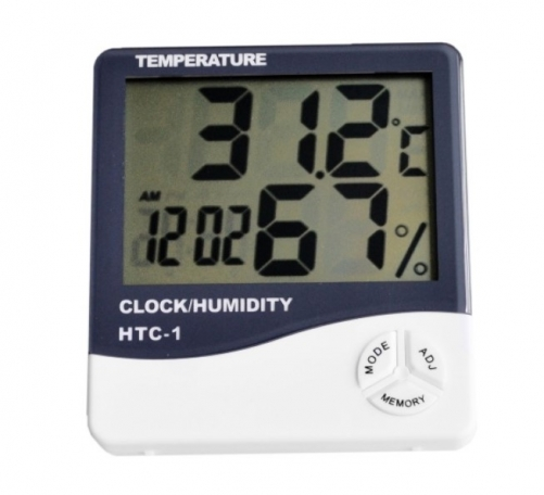HTC-1 Electronic Temperature Humidity Meter with Alarm Clock