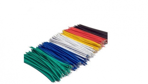 Tin-Plated Fly Jumper Wire Cable 24AWG 20CM 100pcs in 5 colors