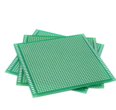 10*10 SINGLE SIDE FIBER GLASS GREEN  Board Prototype PCB Universal Board