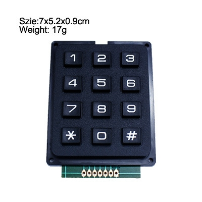 12 Key Membrane Switch Keypad 4 x 3 Matrix Array Matrix keyboard