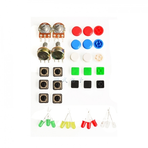 Portable Resistor potentiometer switch pin header Kit for UNO R3 Starter Kit