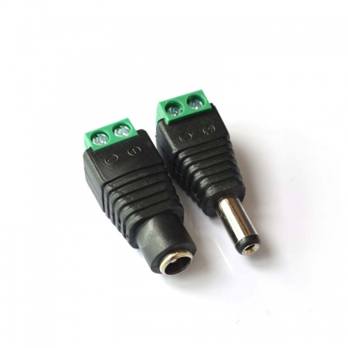 1 Pair Male + Female  2.1mm x 5.5mm DC Plug