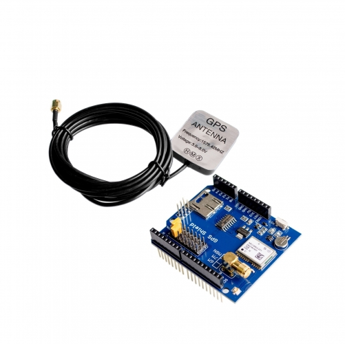 NEO-6M GPS expansion board  with SD + Antenna