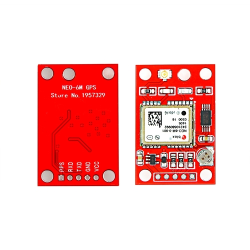 Red GY-NEO-6MV2 GPS module