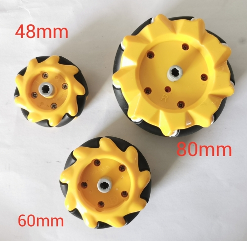 Mecanum Wheel 80mm(4pcs:2pcs right,2pcs left)