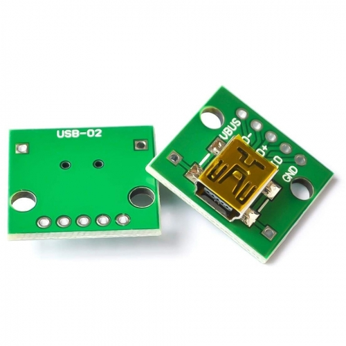 Mini USB to DIP Adapter Converter for 2.54mm PCB Board