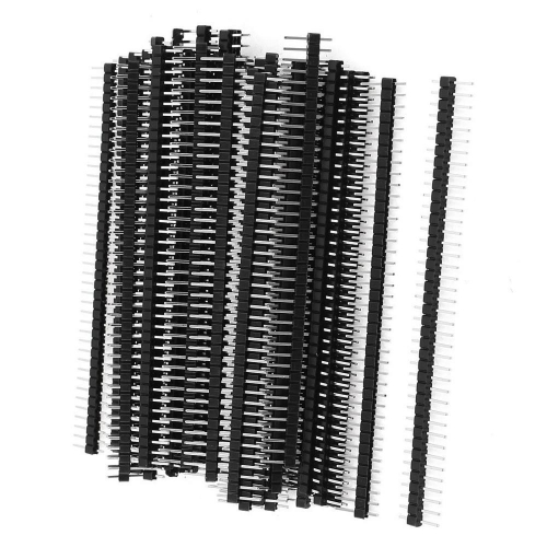 2.54mm 40Pin Single Row black Male Header needle 200pcs