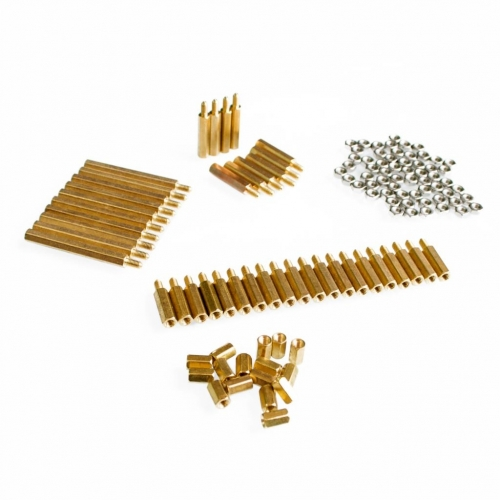 Essential copper M3 pillars + nut pack for freescale smart car