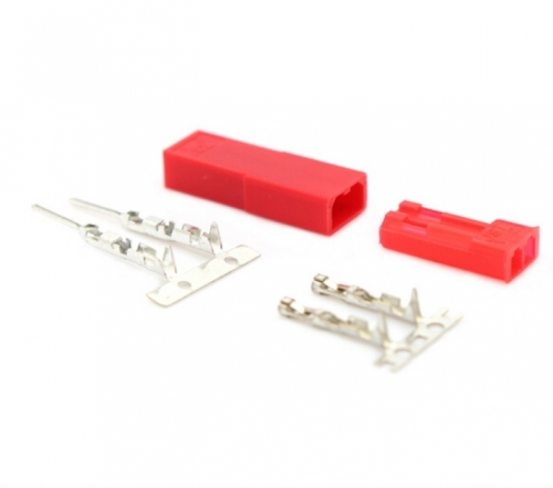 2.54mm JST 2Pin Female and Male Red Plug Housing Terminal Connector Kit