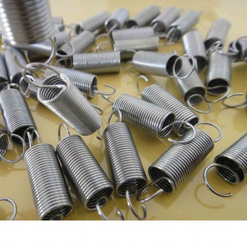 20Pcs Stainless Steel Small Tension Spring With Hook