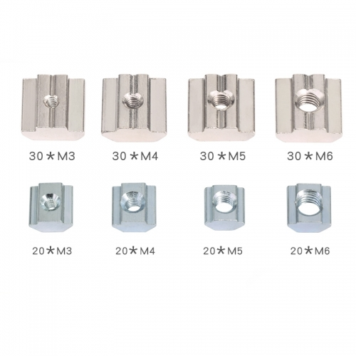 EU20 / 30 slide nut galvanized T-square nut m3 / 4 / 5 / 6