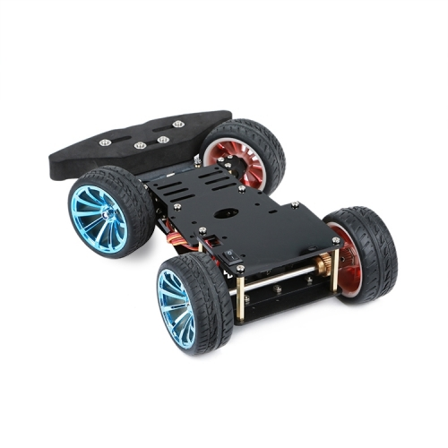 4WD RC Smart Car Chassis With Metal Steering Gear Servo Bearing Kit