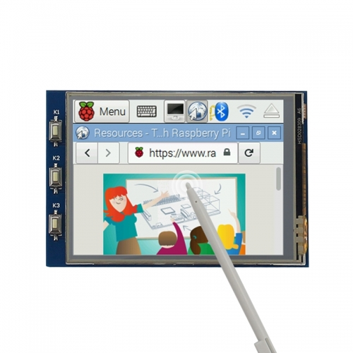 Raspberry Pi 4B/3B+ 2.8 inch Touchscreen TFT SPI Display with Touch Pen