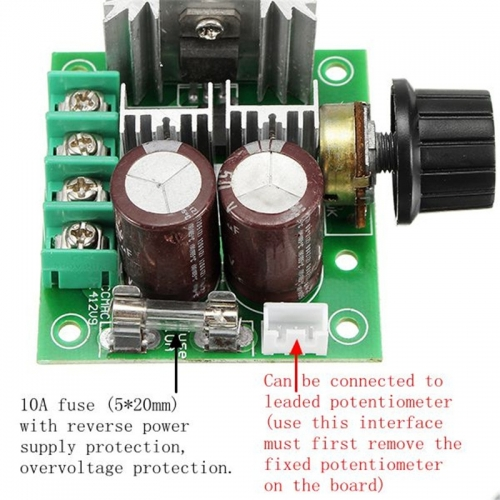 DC 12V-40V 10A  Speed Controller  PWM Stepless Speed Change