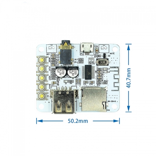 Bluetooth Audio Receiver board with USB TF card Slot decoding playback preamp output