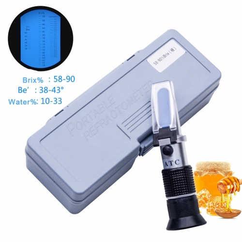 Handheld 58-90% Honey Refractometer