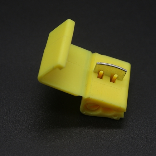 50 Pcs Yellow 803P3 AWG 12-11 Wiring Connector Cable Clamp
