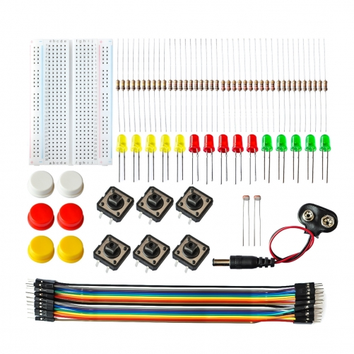 Uno R3 Mini Breadboard LED Jumper Wire Button kit